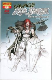 Savage Red Sonja #1 Frank Cho Baltimore RRP Silver Foil Variant Dynamite Entertainment comic book